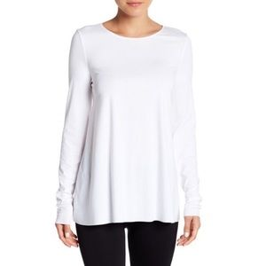 Wolford • White Jersey U-neck Pullover Top.